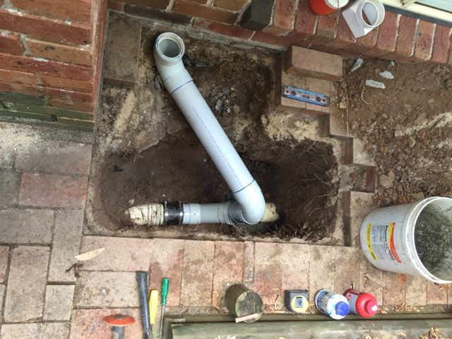 how to clean a downpipe from the ground